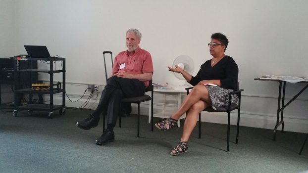 Deena Ladd and Rabbi Shalom Schachter at ISARC annual retreat.